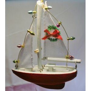 Cape Cod Sailboat Ornament s/3