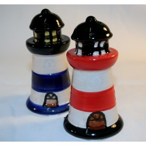 Lighthouse salt & pepper shaker set