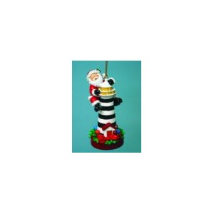 Santa lighthouse ornament