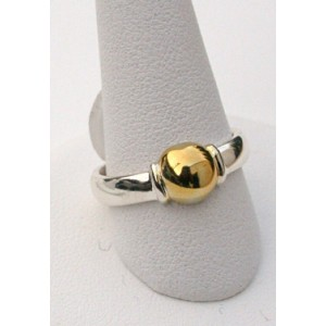 Single Ball Ring, 14k Gold Ball