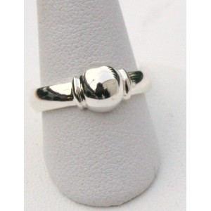 Single Ball Ring, Sterling Silver