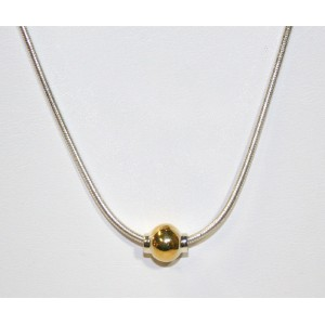 14K Gold Ball Necklace